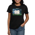 Lilies (#5) & 2 Bolognese Women's Dark T-Shirt