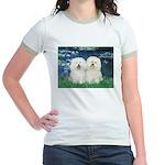 Lilies (#5) & 2 Bolognese Jr. Ringer T-Shirt