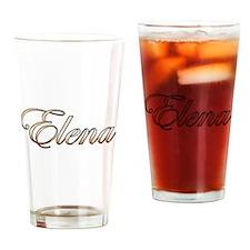 Gold Elena Drinking Glass