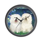 Lilies (#5) & 2 Bolognese Wall Clock