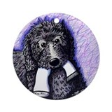 Black Doodle Dog w/ Sock Ornament