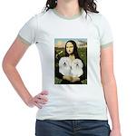 Mona's 2 Bolognese Jr. Ringer T-Shirt