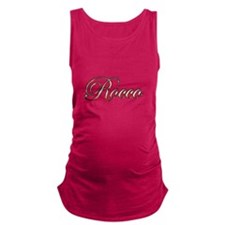 Gold Rocco Maternity Tank Top
