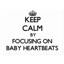 Keep Calm by focusing on Baby Heartbea Invitations