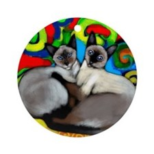 Siamese Cats Ornament (Round)