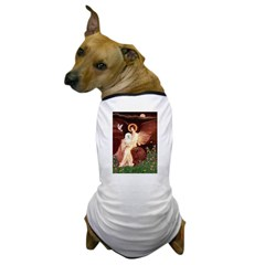Seated Angel & Bolognese Dog T-Shirt