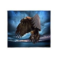 Eagle in Flight Throw Blanket
