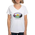 Made in California's Women's V-Neck T-Shirt