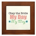 Obey Bride Wedding Framed Tile
