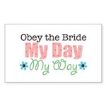 Obey Bride Wedding Rectangle Sticker