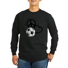 P,L,Soccer, black Long Sleeve T-Shirt