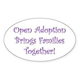 Adoption Creates Families Oval Decal