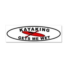 Cute Kayak Car Magnet 10 x 3