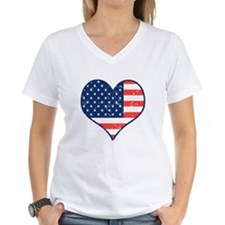 Patriotic Heart with Flag Shirt
