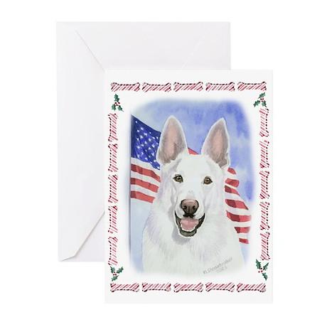White German Shepherd Christmas Cards