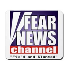 "FEAR NEWS CHANNEL ""Fix'd and Slanted"" Mousepad"