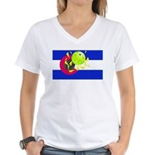 pickleball in Co state flag T-Shirt