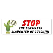 Save Zucchini Bumper Bumper Sticker