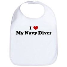 I Love My Navy Diver Bib