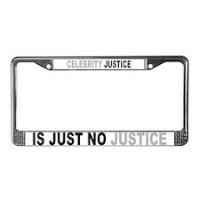 CELEBRITY JUSTICE License Plate Frame