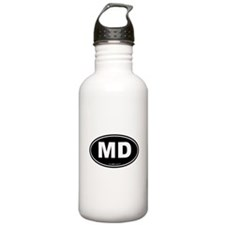 Maryland MD Euro Oval Water Bottle