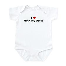 I Love My Navy Diver Infant Bodysuit