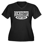 Rochester New York Women's Plus Size V-Neck Dark T