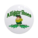 Alligator Shoes Ornament (Round)