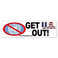 U.S Out of UN Political Bumper Bumper Sticker