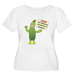 Save Zucchini Women's Plus Size Scoop Neck T-Shirt