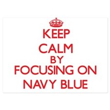 Keep Calm by focusing on Navy Blue Invitations