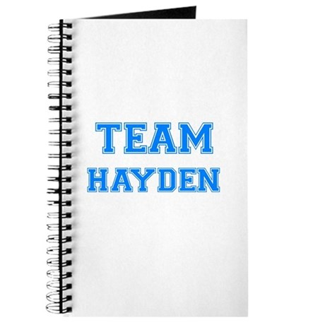 TEAM HAYDEN Journal