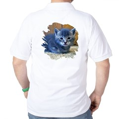 Grey Kitten Golf Shirt