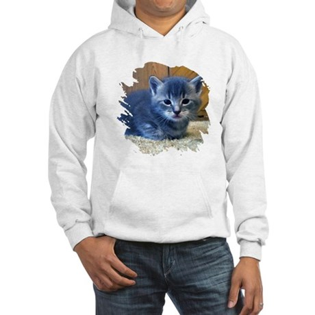 Grey Kitten Hooded Sweatshirt