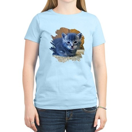 Grey Kitten Women's Light T-Shirt
