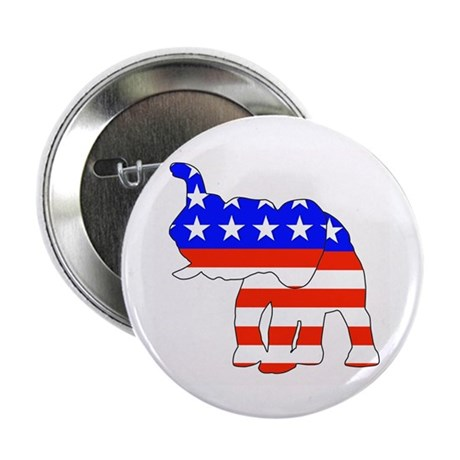 "Republican GOP Logo Elephant 2.25"" Button (100 pac"