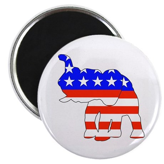 "Republican GOP Logo Elephant 2.25"" Magnet (100 pac"