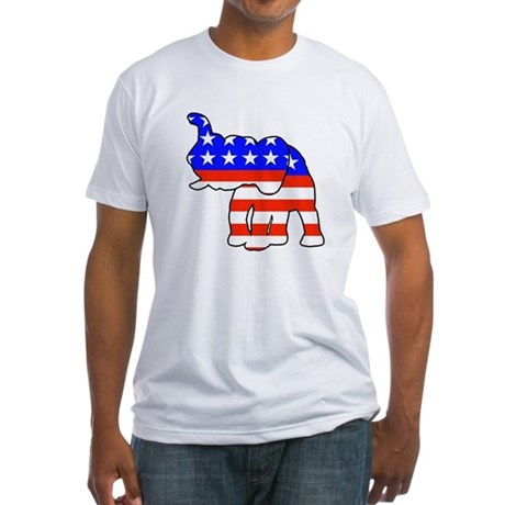 Republican GOP Logo Elephant Fitted T-Shirt
