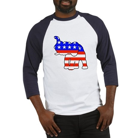 Republican GOP Logo Elephant Baseball Jersey