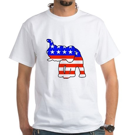 Republican GOP Logo Elephant White T-Shirt