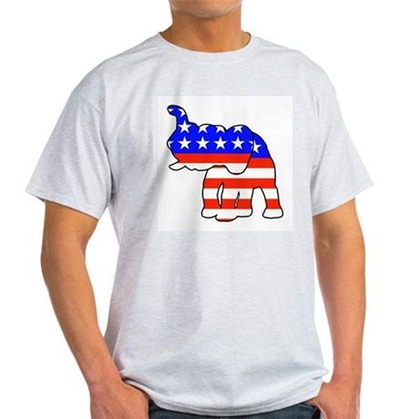 Republican GOP Logo Elephant Ash Grey T-Shirt