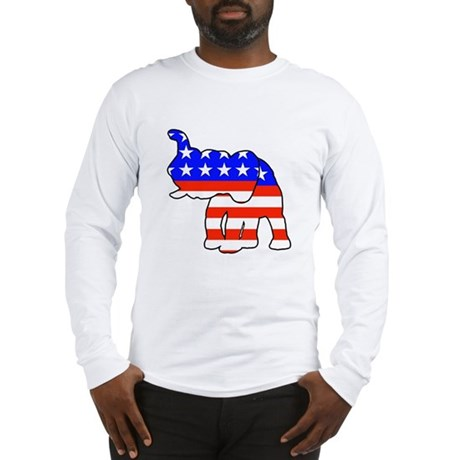 Republican GOP Logo Elephant Long Sleeve T-Shirt