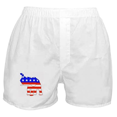 Republican GOP Logo Elephant Boxer Shorts