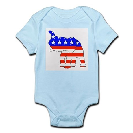 Republican GOP Logo Elephant Infant Creeper