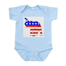 Republican GOP Logo Elephant Infant Creeper