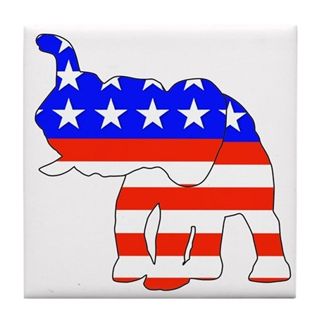 Republican GOP Logo Elephant Tile Coaster
