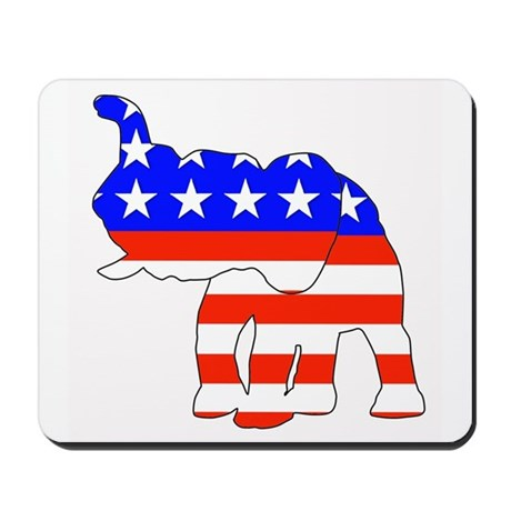 Republican GOP Logo Elephant Mousepad