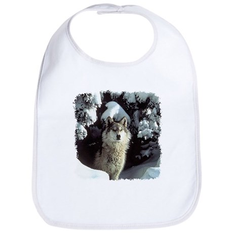 Winter Wolf Bib