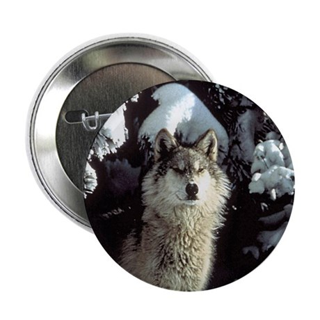 Winter Wolf Button
