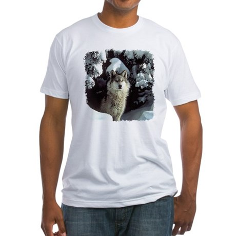 Winter Wolf Fitted T-Shirt
